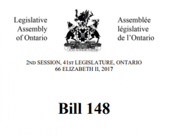 Bill 148: Outlining the New ESA and OHSA Requirements Now in Force